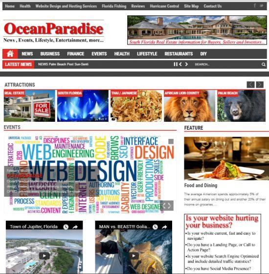 OceanParadise-website